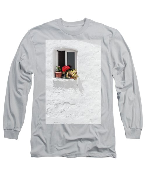 White Window Long Sleeve T-Shirt