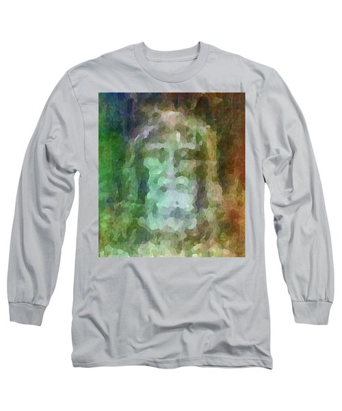 Who Do Men Say That I Am - The Shroud Long Sleeve T-Shirt by Glenn McCarthy Art and Photography