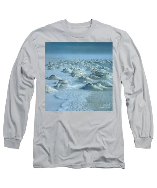 Whooper Swans In Snow Long Sleeve T-Shirt