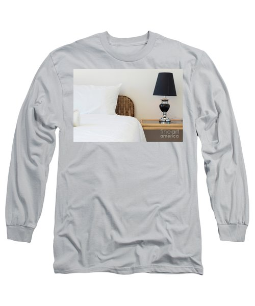 Long Sleeve T-Shirt featuring the photograph Wicker Rattan Bed by Atiketta Sangasaeng
