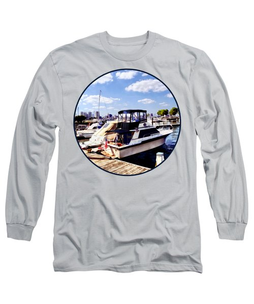 Wiggins Park Marina Long Sleeve T-Shirt by Susan Savad