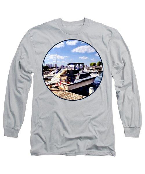 Wiggins Park Marina Long Sleeve T-Shirt by Susan Savad