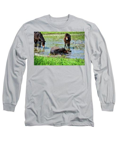 Wild Horses 3 Long Sleeve T-Shirt