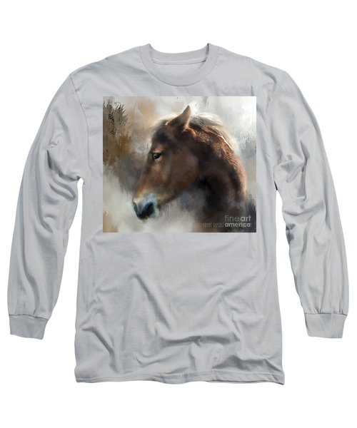 Wild Pony Long Sleeve T-Shirt by Kathy Russell