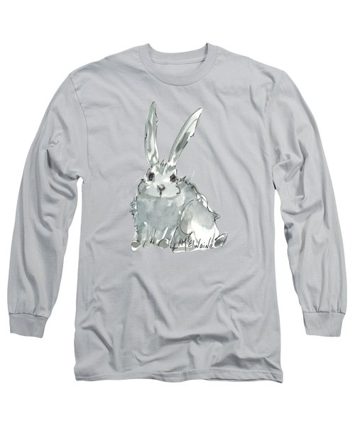 Wild Rabbit Watercolor And Ink Painting By Kmcelwaine Long Sleeve T-Shirt