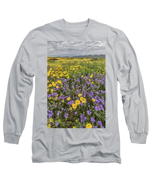 Long Sleeve T-Shirt featuring the photograph Wildflower Super Bloom by Peter Tellone