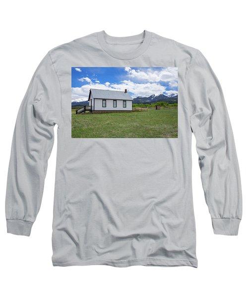 Willows School Below The Wet Mountain Range Long Sleeve T-Shirt