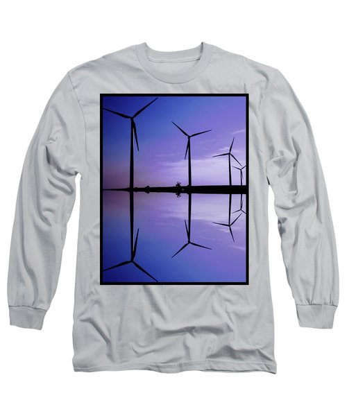 Wind Energy Turbines At Dusk Long Sleeve T-Shirt
