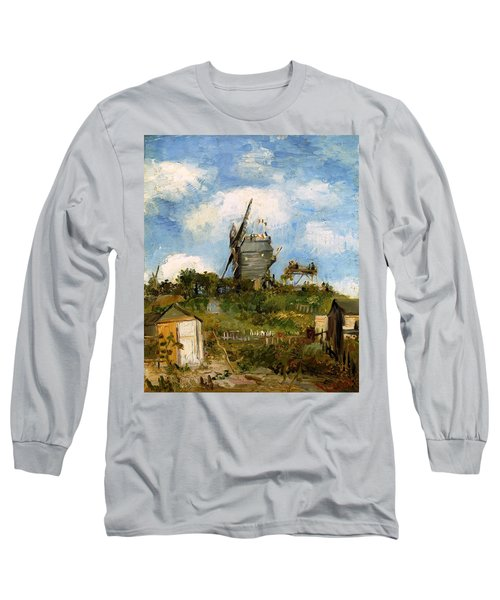 Windmill In Farm Long Sleeve T-Shirt
