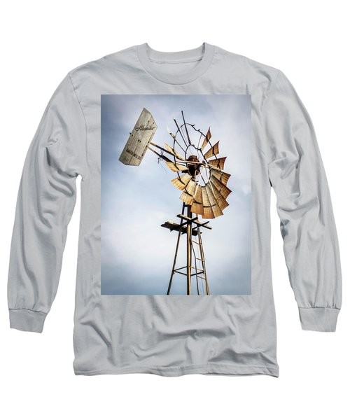 Long Sleeve T-Shirt featuring the photograph Windmill In The Sky by Dawn Romine