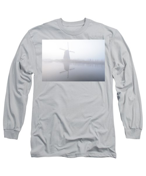 Windmill Reflection Long Sleeve T-Shirt by Phyllis Peterson