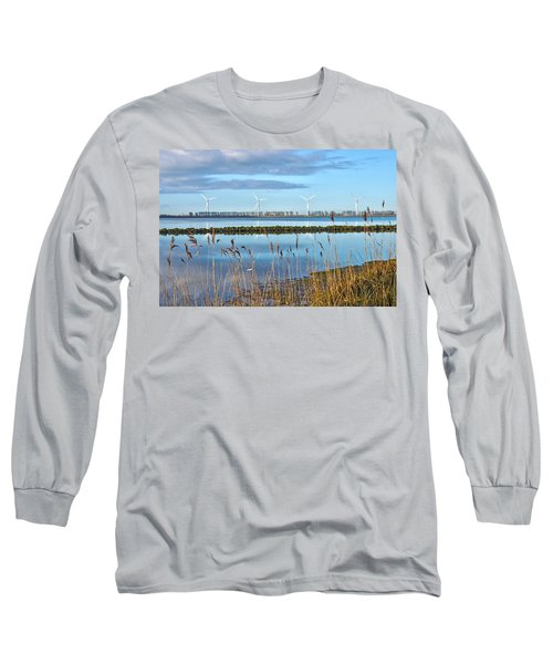 Windmills On A Windless Morning Long Sleeve T-Shirt by Frans Blok