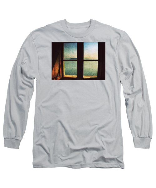 Window Overlooking The Sea Long Sleeve T-Shirt