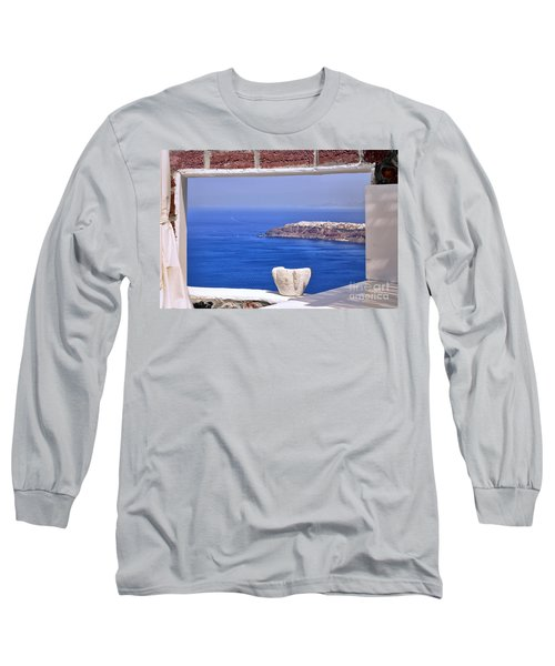 Window View To The Mediterranean Long Sleeve T-Shirt