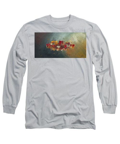 Long Sleeve T-Shirt featuring the painting Winds Of Prosperity by Carmen Guedez