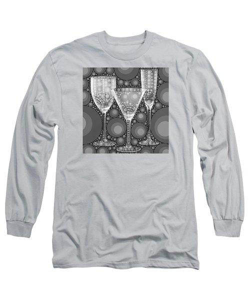 Wine Glass Art-2 Long Sleeve T-Shirt