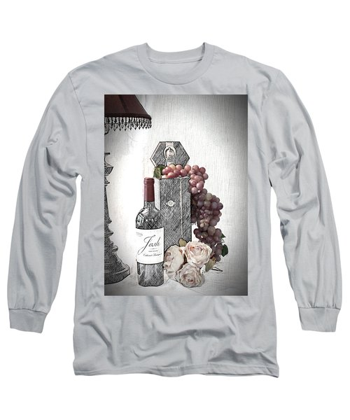 Long Sleeve T-Shirt featuring the photograph Wine Tasting Evening by Sherry Hallemeier