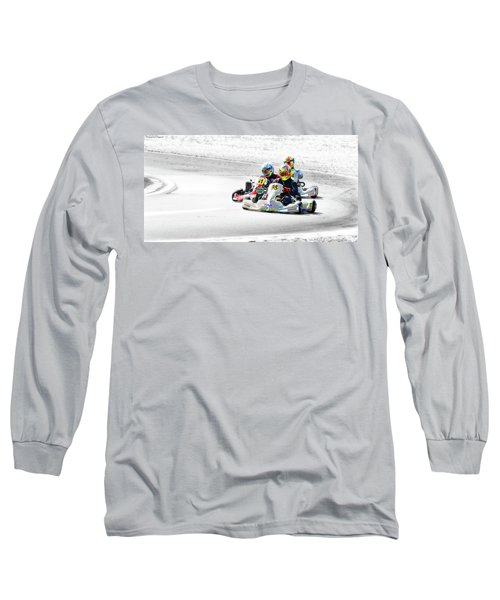 Wingham Go Karts 04 Long Sleeve T-Shirt by Kevin Chippindall