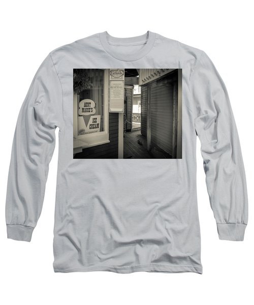 Winter At Aunt Marie's Ice Cream Stand Long Sleeve T-Shirt