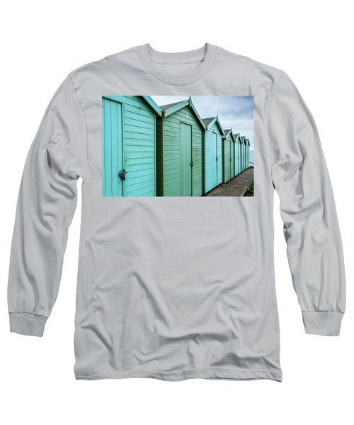 Winter Beach Huts IIi Long Sleeve T-Shirt