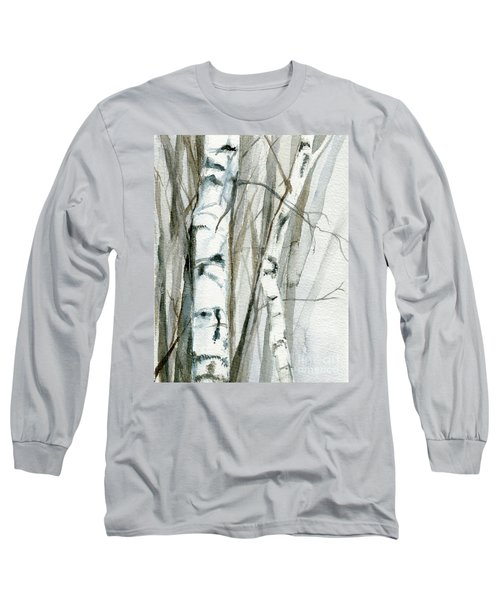 Winter Birch Long Sleeve T-Shirt by Laurie Rohner