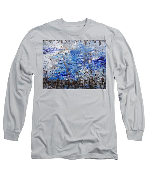 Long Sleeve T-Shirt featuring the painting Winter Crisp by Jacqueline Athmann