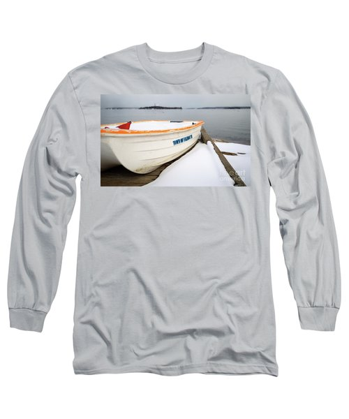 Long Sleeve T-Shirt featuring the photograph Winter, Falmouth, Maine  -18674 by John Bald