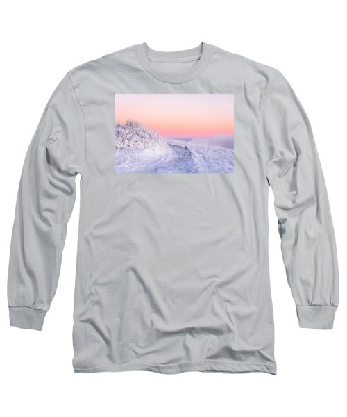 Winter Glow On Roan Mountain Long Sleeve T-Shirt by Serge Skiba