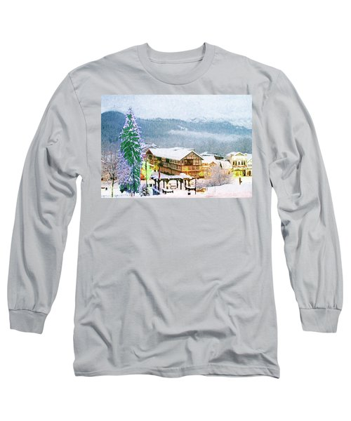 Winter Holiday In The Village Long Sleeve T-Shirt