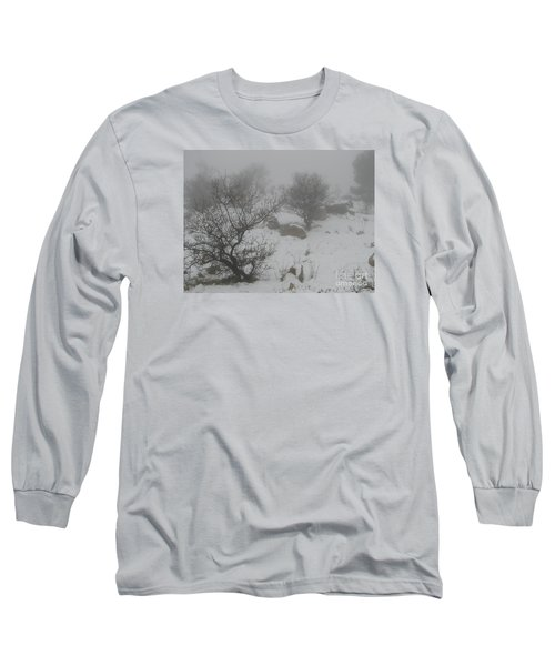 Long Sleeve T-Shirt featuring the photograph Winter In Israel by Annemeet Hasidi- van der Leij