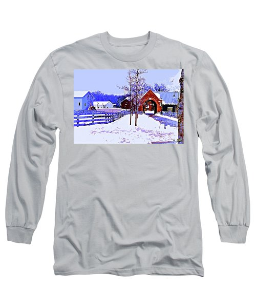 Winter In The Village Long Sleeve T-Shirt