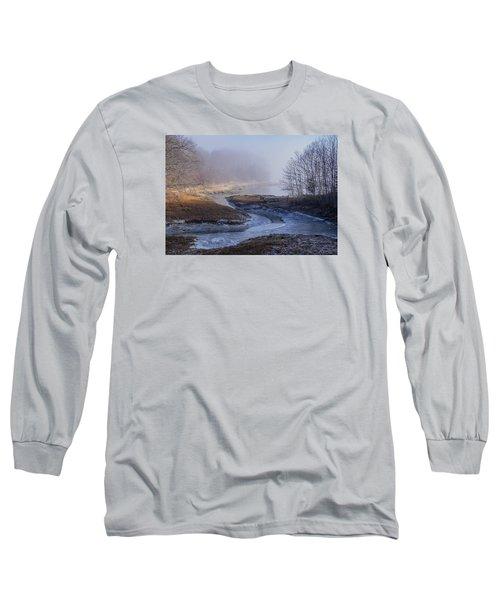 Winter Inlet Long Sleeve T-Shirt by Tom Singleton