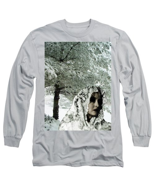 Long Sleeve T-Shirt featuring the digital art Winter Lace by Lyric Lucas