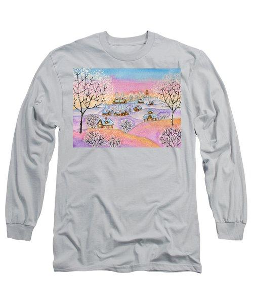 Winter Landscape, Painting Long Sleeve T-Shirt