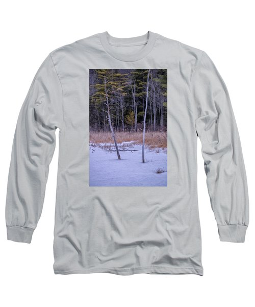 Winter Marsh And Trees Long Sleeve T-Shirt