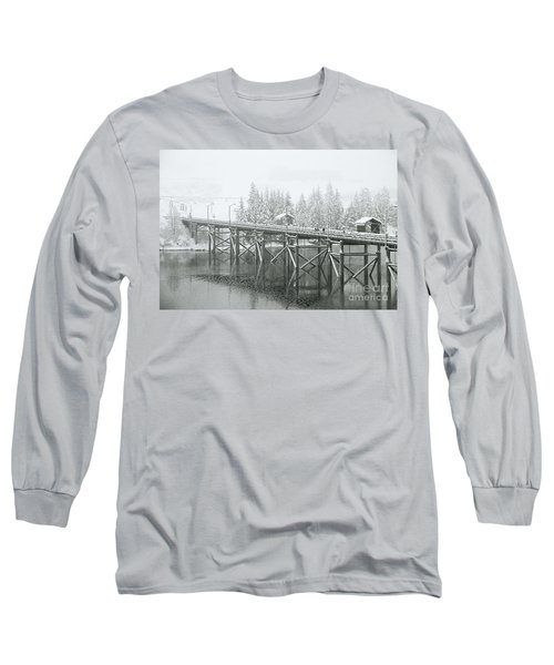 Winter Morning In The Pier Long Sleeve T-Shirt