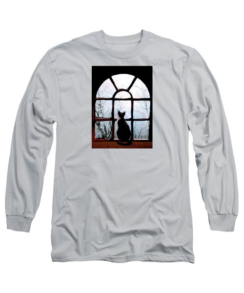 Winter Musing Long Sleeve T-Shirt by Angela Davies