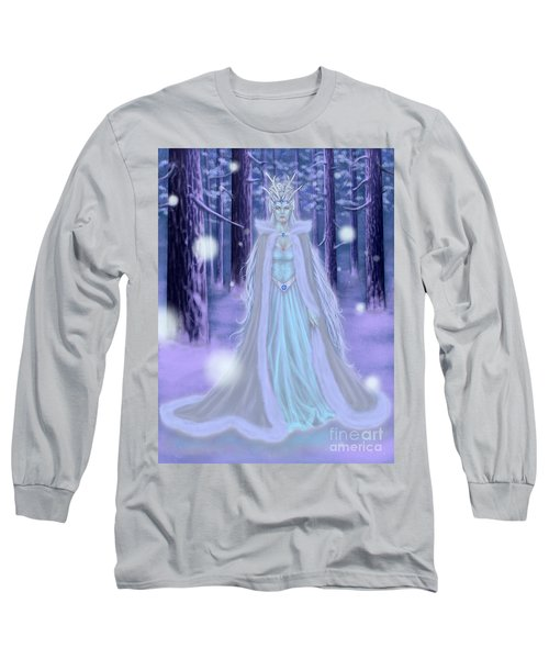 Winter Queen Long Sleeve T-Shirt by Amyla Silverflame