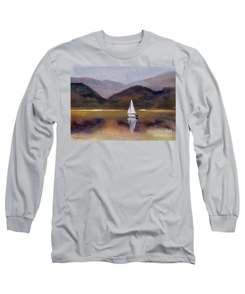 Winter Sailing At Our Island Long Sleeve T-Shirt by Randy Sprout