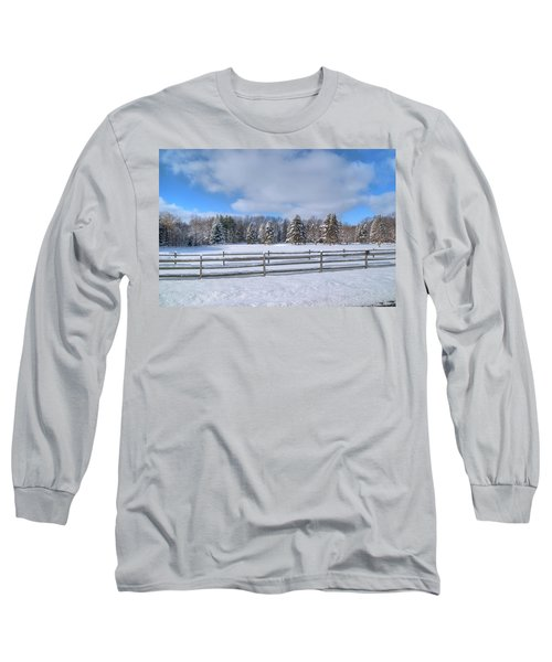 Long Sleeve T-Shirt featuring the photograph Winter Scenery 14589 by Guy Whiteley