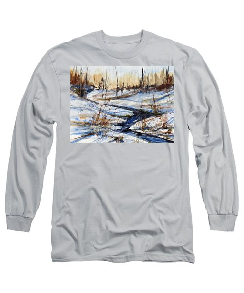 Winter Stream Long Sleeve T-Shirt by Judith Levins