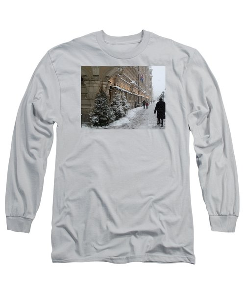Winter Stroll In Helsinki Long Sleeve T-Shirt