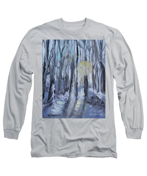 Long Sleeve T-Shirt featuring the painting Winter Sun by Robin Maria Pedrero