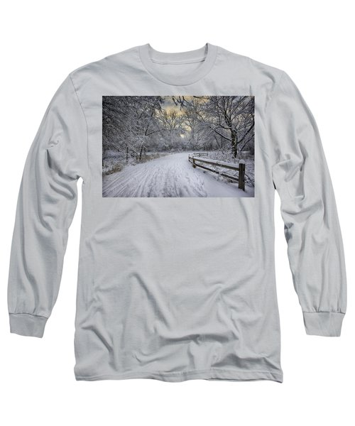 Long Sleeve T-Shirt featuring the photograph Winter Sunrise by Sebastian Musial