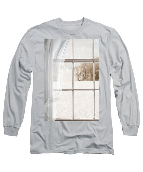 Winter Through A Window Long Sleeve T-Shirt