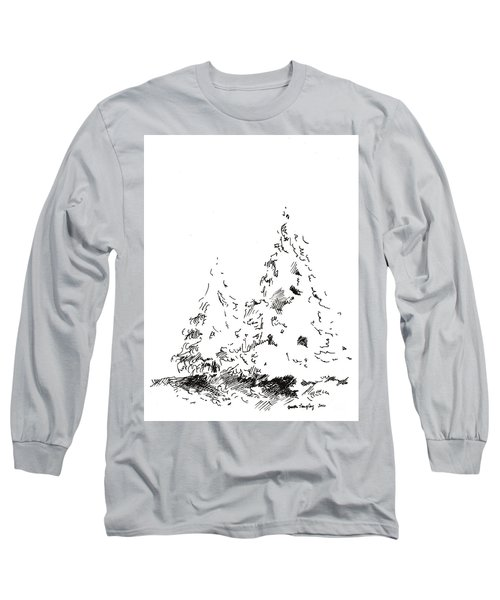 Winter Trees 1 - 2016 Long Sleeve T-Shirt by Joseph A Langley