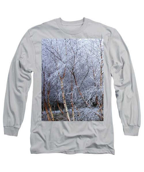 Winter Trees Long Sleeve T-Shirt by Jacqi Elmslie