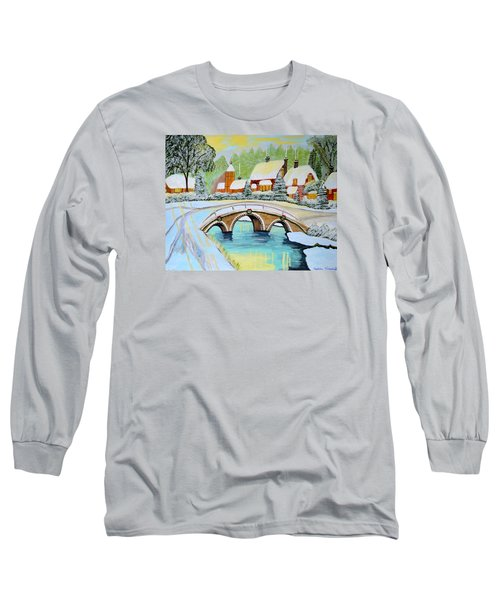 Winter Village Long Sleeve T-Shirt by Magdalena Frohnsdorff