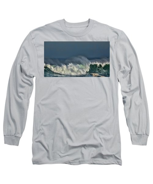 Winter Waves And Veil Long Sleeve T-Shirt by Shirley Mangini