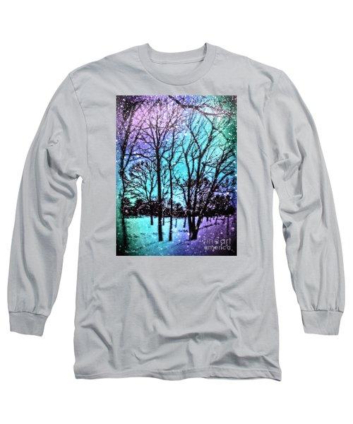 Winter Wonderland Painting Long Sleeve T-Shirt